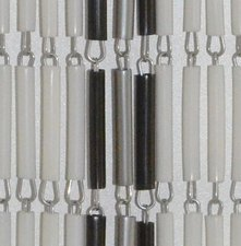 Vliegengordijn hulzen/tubes multi 100x232cm