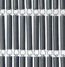 Vliegengordijn hulzen/tubes grijs 90x210cm