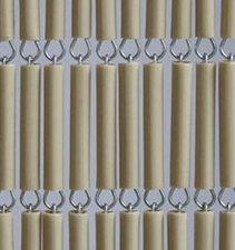 Vliegengordijn hulzen/tubes beige 90x210cm
