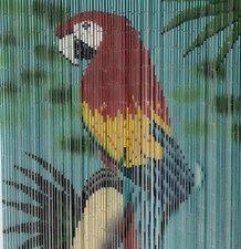 Bamboe vliegengordijn papegaai Aara 90x200cm