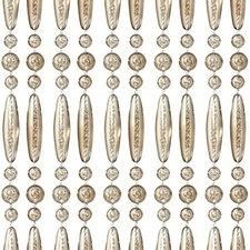 Vliegengordijn kralen recht champagne transparant 90x210cm