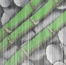 Bamboe vliegengordijn bamboe-stengels op stenen 90x200cm