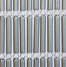 Vliegengordijn hulzen zilver recht 90x210cm