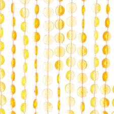Kralengordijn diamonds geel/oranje 90x200cm (136 strengen)