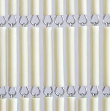 Vliegengordijn hulzen/tubes creme 100x232cm