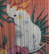 Bamboe vliegengordijn kakatoe 90x200cm