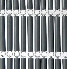 Vliegengordijn hulzen/tubes grijs 100x232cm