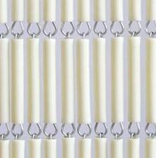 Vliegengordijn hulzen/tubes creme 90x210cm
