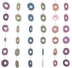 Kralengordijn met ringen 90x200cm