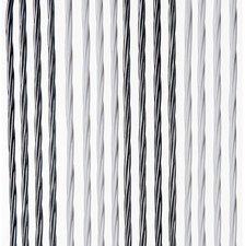 Vliegengordijn Victoria 100x240cm (wit-zilver)