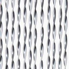 Vliegengordijn Opal 100x240cm (zilver-wit)