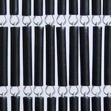 Vliegengordijn hulzen zwart recht 90x210cm