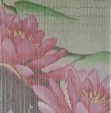 Bamboe vliegengordijn roze bloem 90x200cm