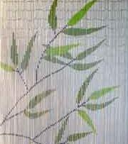 Bamboe vliegengordijn palmbladeren 90x200cm