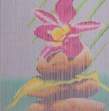 Bamboe deurgordijn Japanse lotus 90x200cm