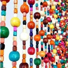 Kralengordijn Bubble gum vliegengordijn kralen 90x200cm