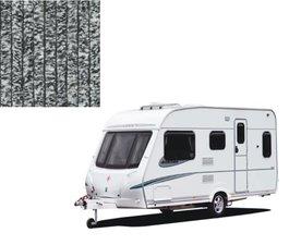 Vliegengordijn caravan zwart/wit 56x180cm