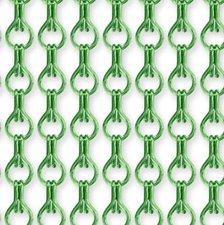 Vliegengordijn kettingen lichtgroen glans 90x210cm
