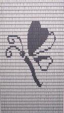 Vliegengordijn op maat: libelle wit/zilver