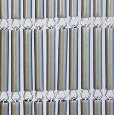 Vliegengordijn op maat: hulzen zilver