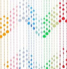 Kralengordijn druppel regenboog 90x200cm