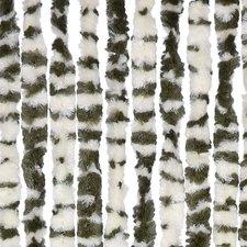 Vliegengordijn twisted plush groen/wit 90x205cm