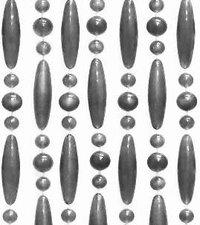 Vliegengordijn kralen zilver metallic 90x210cm (op bestelling)