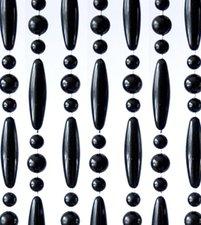 Vliegengordijn kralen zwart 90x210cm (op bestelling)