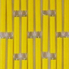 Vliegengordijn op maat: hulzen verspringen geel