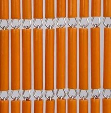 Vliegengordijn op maat: hulzen oranje
