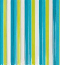 Vliegengordijn plastic lamellen groen-blauw 90x220cm