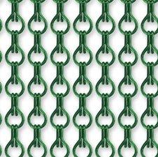 Vliegengordijn kettingen groen glans 90x210cm