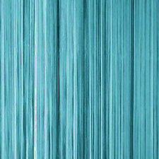 Draadjesgordijn turquoise 90x200cm