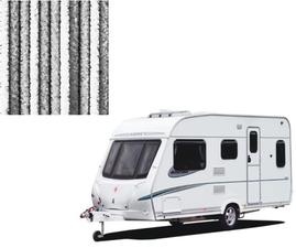 Vliegengordijn caravan grijs/grijs/wit 56x185cm