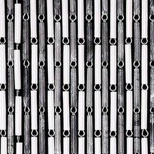 Vliegengordijn hulzen wit/grijs 100x240cm