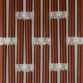 Vliegengordijn op maat: hulzen verspringen bruin