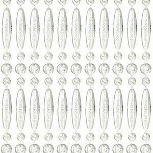 Vliegengordijn kralen recht transparant 90x210cm (op bestelling)