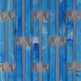 Vliegengordijn op maat: hulzen blauw gevlekt verspringen