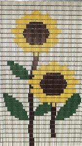 Vliegengordijn op maat: zonnebloemen