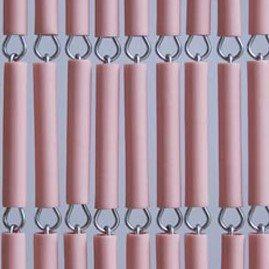 Vliegengordijn op maat: hulzen roze