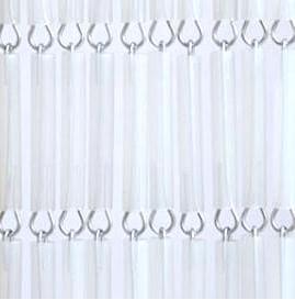 Vliegengordijn op maat: hulzen transparant