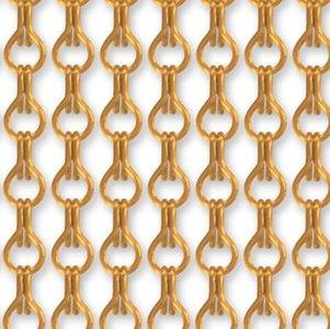Vliegengordijn kettingen goud glans 100x240cm