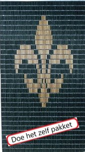 Vliegengordijn bouwpakket Franse lelie groen 90x210cm