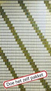 Vliegengordijn bouwpakket 4 diagonale strepen 90x210cm