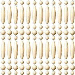 Vliegengordijn kralen recht creme 90x210cm