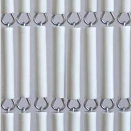 Vliegengordijn hulzen wit recht 100x240cm