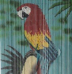 vliegengordijn papegaai