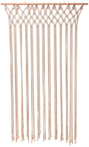 Deurgordijn Macrame creme 90x180cm