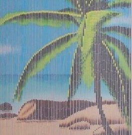 bamboegordijn palm vliegengordijn