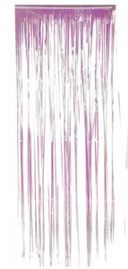 deurgordijn roze holografisch